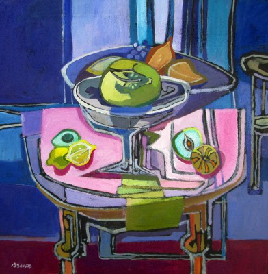 Davy BROWN - Still Life with Fruit Bowls