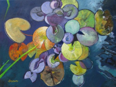 Scottish Artist Davy BROWN - Water Lilies in Autumn