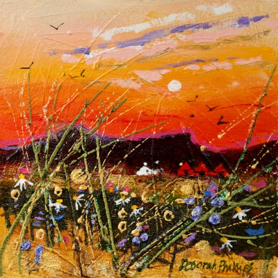 Sizzling Hot Sunset painting by artist Deborah PHILLIPS