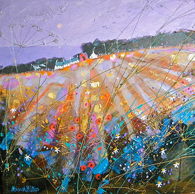 Scottish Artist Deborah PHILLIPS - Autumn Glow near Coldingham