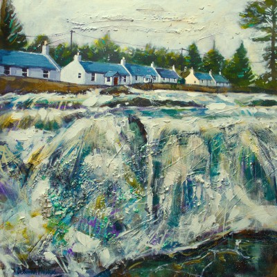 Scottish Artist Deborah PHILLIPS - Falls of Dochart, Killin