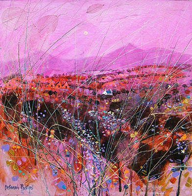 Scottish Artist Deborah PHILLIPS - Magenta Moonrise