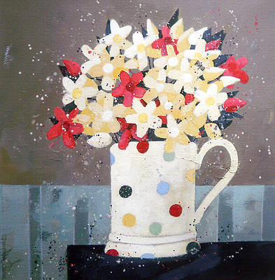 Mug of Flowers painting by artist Dionne SIEVEWRIGHT
