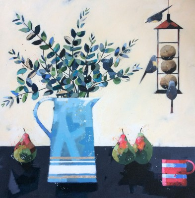 Scottish Artist Dionne SIEVEWRIGHT - Eucalyptus and Pears