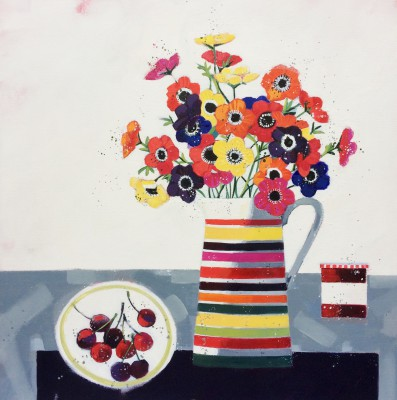 Dionne SIEVEWRIGHT - Anemones and Cherries
