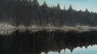 Mirrored painting by artist Donald PROVAN