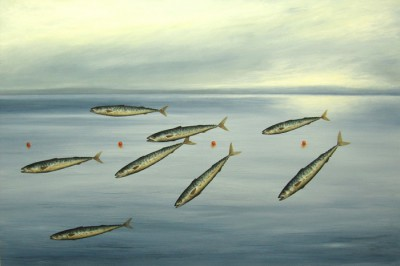 Scottish Artist Donald PROVAN - Fish Might Fly
