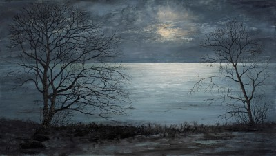Scottish Artist Donald PROVAN - Moonlit Sea