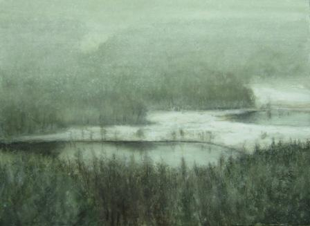 Scottish Artist Donald PROVAN - Lochans and Snowfall