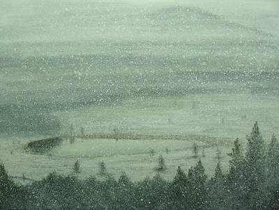 Scottish Artist Donald PROVAN - Heavy Snowfall