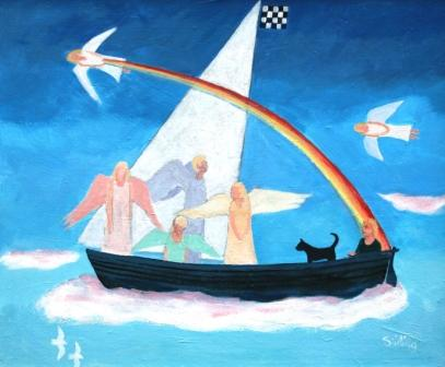Scottish Artist Dorothy STIRLING - Cloud Nine