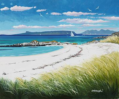Scottish Artist Frank COLCLOUGH - Eigg and Rum from Arisaig