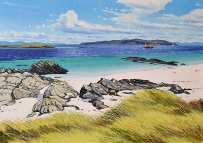 Ben More from Iona painting by artist Frank COLCLOUGH