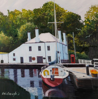 Scottish Artist Frank COLCLOUGH - Moorings, Crinan