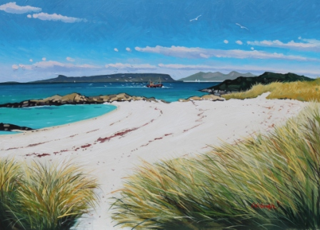 Scottish Artist Frank COLCLOUGH - Small Isles From Arisaig