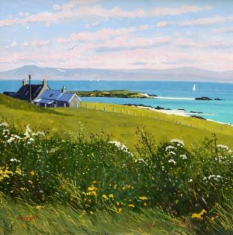 Scottish Artist Frank COLCLOUGH - Ardionra Farm, Iona