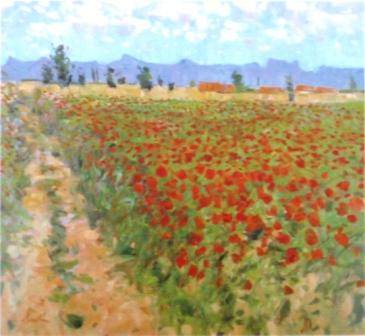 George DEVLIN - Poppies, Provence