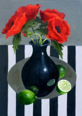 Scottish Artist Gail POPE - Poppies and Limes