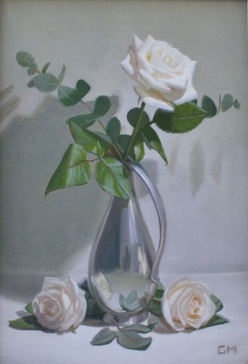 Scottish Artist Gary MORROW - Silver Jug with Roses