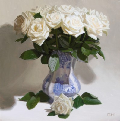 Scottish Artist Gary MORROW - Roses and Porcelain