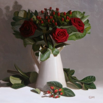 Scottish Artist Gary MORROW - Ruby Bouquet