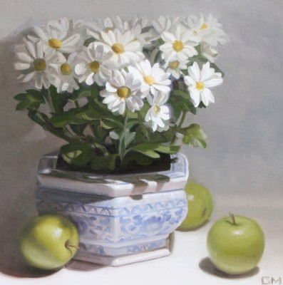 Scottish Artist Gary MORROW - Chrysanthemum and Apples