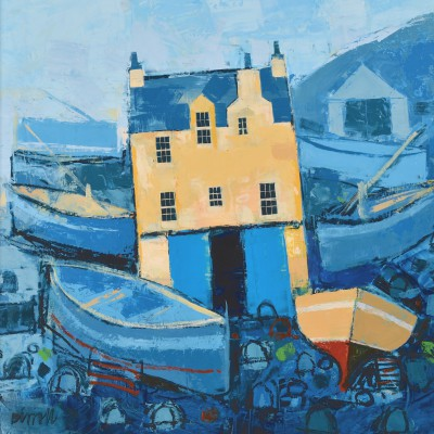 Scottish Artist George BIRRELL - Harbour Shed