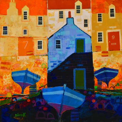 Scottish Artist George BIRRELL - Three Boats