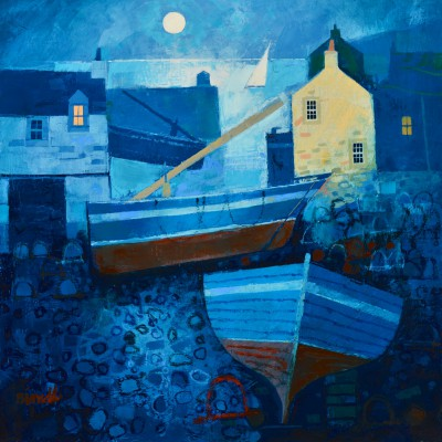 Scottish Artist George BIRRELL - Harbour Moon