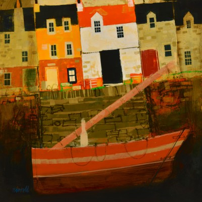 Scottish Artist George BIRRELL - Pier Houses