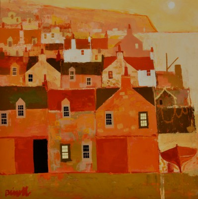 Scottish Artist George BIRRELL - Golden Harbour