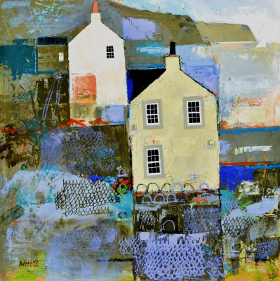 Scottish Artist George BIRRELL - Harbour Gables