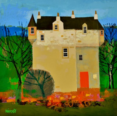Scottish Artist George BIRRELL - Woodland Castle