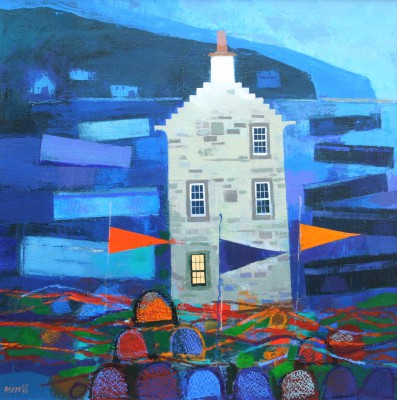Scottish Artist George BIRRELL - Crowsteps