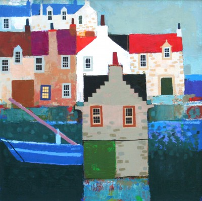Scottish Artist George BIRRELL - Blue Boat