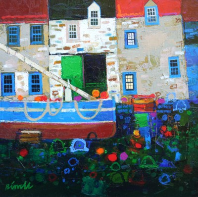 Scottish Artist George BIRRELL - Blue Windows