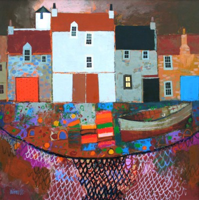 Scottish Artist George BIRRELL - Harbour Warning Light
