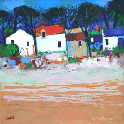 Scottish Artist George BIRRELL - Beach Houses