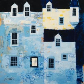 Scottish Artist George BIRRELL - Evening Castle