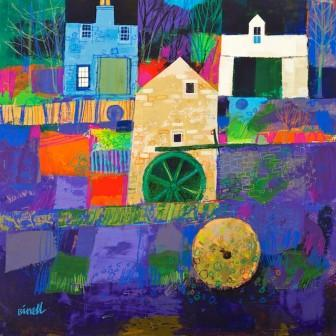 Scottish Artist George BIRRELL - Mill Buildings