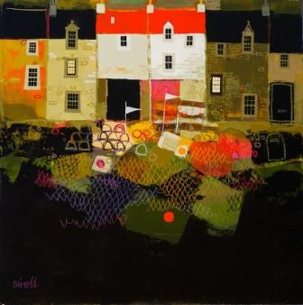 Scottish Artist George BIRRELL - Harbour Houses