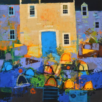 The Blue Door II painting by artist George BIRRELL