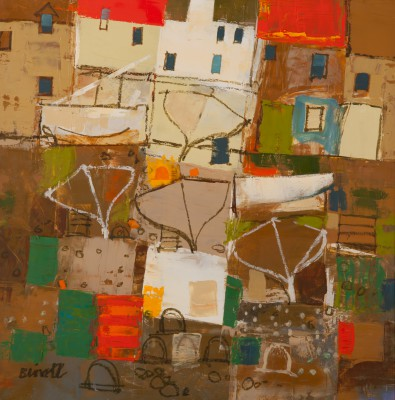 Scottish Artist George BIRRELL - Boatyard