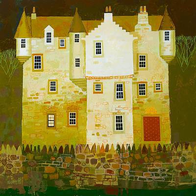 Scottish Artist George BIRRELL - Castle Wall