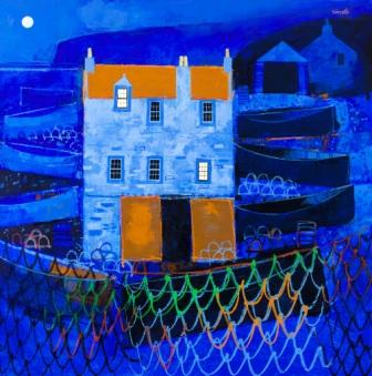 George BIRRELL - Drying Nets, Evening