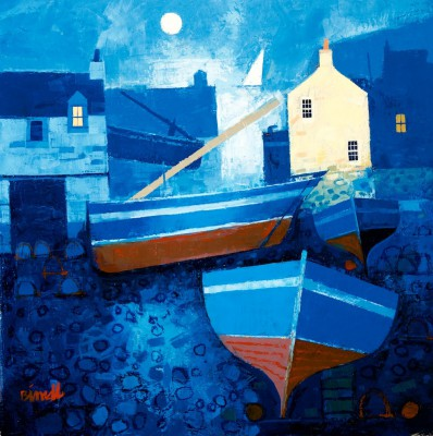 Harbour Moon painting by artist George BIRRELL