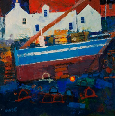 Scottish Artist George BIRRELL - Laid Up Boat