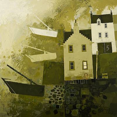 Scottish Artist George BIRRELL - 5 The Shore