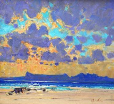 Scottish Artist George DEVLIN - Passing Storm, Eigg and Rhum