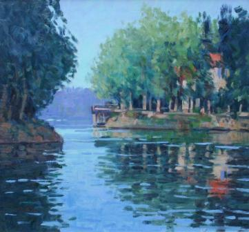 Scottish Artist George DEVLIN - Morning By The Seine